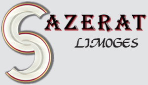 SAZERAT Limoges - Articles funéraires personnalisés en porcelaine : plaques, médaillons, assiettes, livres, parchemins...